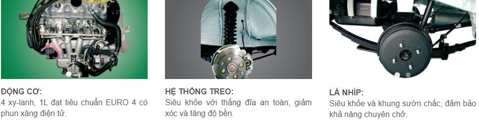 Động cơ mạnh mẽ, máy khỏe, tiết kiệm nhiên liệu, độ bền cao là những lý do khiến cho chiếc xe Suzuki Carry Truck trở thành loại xe tải nhẹ bán chạy và được sử dụng nhiều nhất tại Việt Nam.