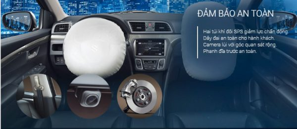 Suzuki-Ciaz Đảm bảo an toàn